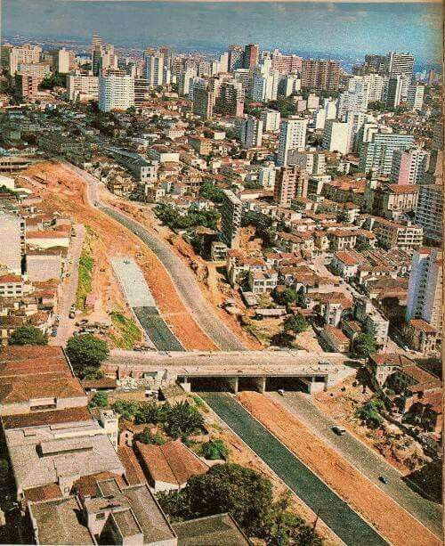 1971 - Avenida 23 de Maio em obras.