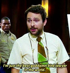 Charlie Kelly is well versed in bird law.