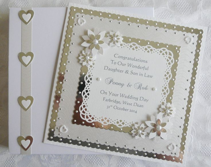 Wedding Day Congratulations Card For Son Daughter Granddaughter Grandson Special Couple Friends Large Handmade Personalised Boxed
