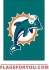 """Dolphins Mini Flag 15"""" x 10 1/2"""""""