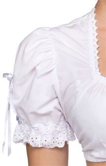 Traditional dirndl blouse B3026 white