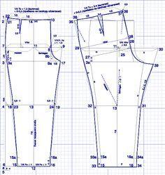 """Construimos un pantalón patrón de """"lujo"""" de las mujeres. Comentarios: LiveInternet - Russian Servicio Diarios Online"""