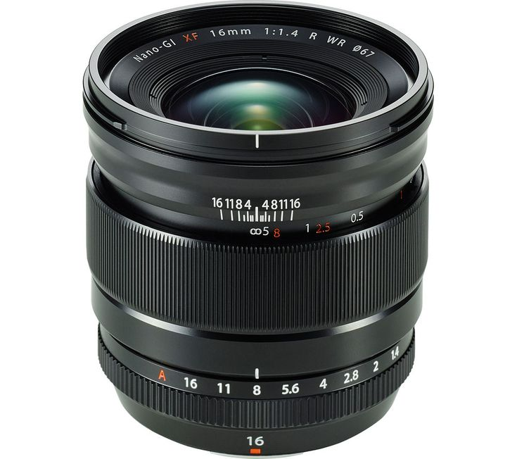 FUJIFILM  Fujinon XF 16 mm f/1.4 R WR Wide-angle Prime Lens Price: £ 829.00 Capture stunning landscapes and detailed close ups with the Fujifilm Fujinon XF 16 mm f/1.4 R WR Wide-angle Prime Lens which delivers a dramatic wide field of view and excellent optical performance. Bright f/1.4 lens Shoot high quality images in low light conditions, or bokeh-rich macro photography thanks to a bright...