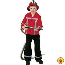 Brandweer kostuum kind rood/zwart