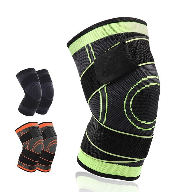 4xl Basketball Tennis Hiking Cycling Knee Brace Support 3d Weaving Pressurized Straps Bandage Sports Knee Pads Patell Knee Brace Volleyball Knee Pads Knee Pads