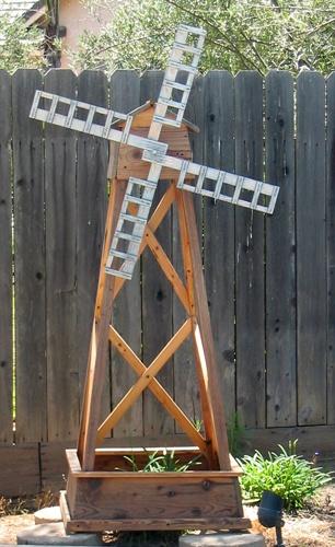 An old garden windmill I made.