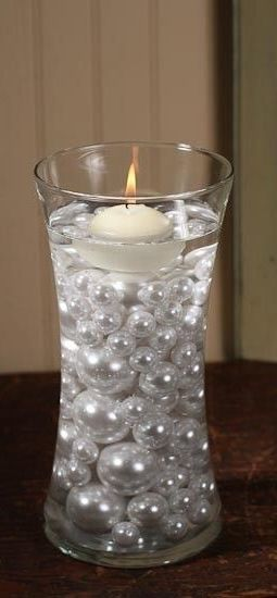 Pearls and candle