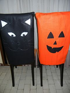 Halloween chair covers.
