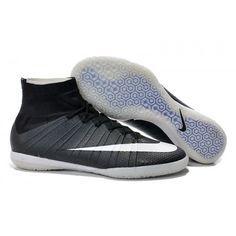 2016 Nike Elastico Superfly IC Hi Botas De Futbol Negro Gris