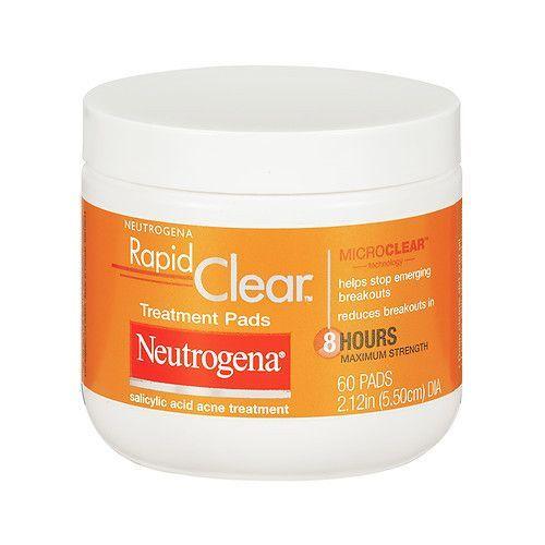 Neutrogena Rapid Clear Daily Treatment Pads Salicylic Acid Acne Treatment, Maximum Strength - 60 pads