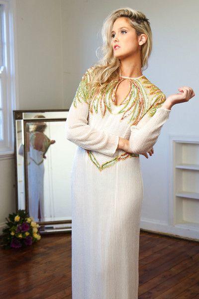 BE BEAUTIFUL IN VINTAGE 'Germaine' Beaded Dress | Postcard Vintage #BRIDE #BOLD