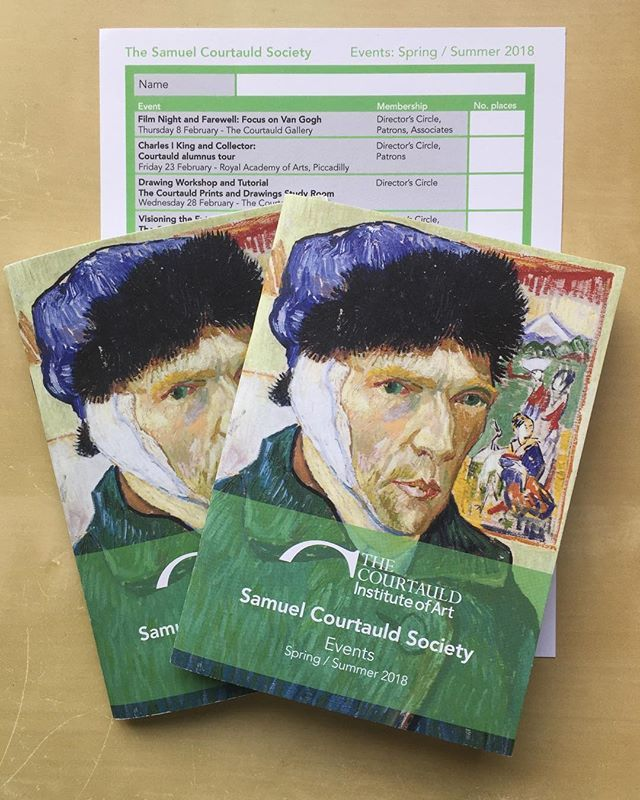 Just back from the printer these little pocket events programmes for The Courtauld Institute of Art featuring #VanGogh on the cover. #art #design #print