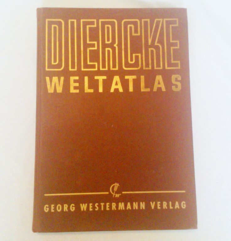 German Diercke Welt Atlas George Westermann Verlag Copyright 1957 by BorrowedTimes on Etsy