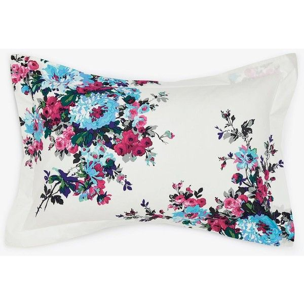 CREAM FLORAL Oxford Pillowcase ($18) ❤ liked on Polyvore featuring home, bed & bath, bedding, bed sheets, beige bedding, cream colored bedding, cream bedding, ivory pillowcases and floral bedding