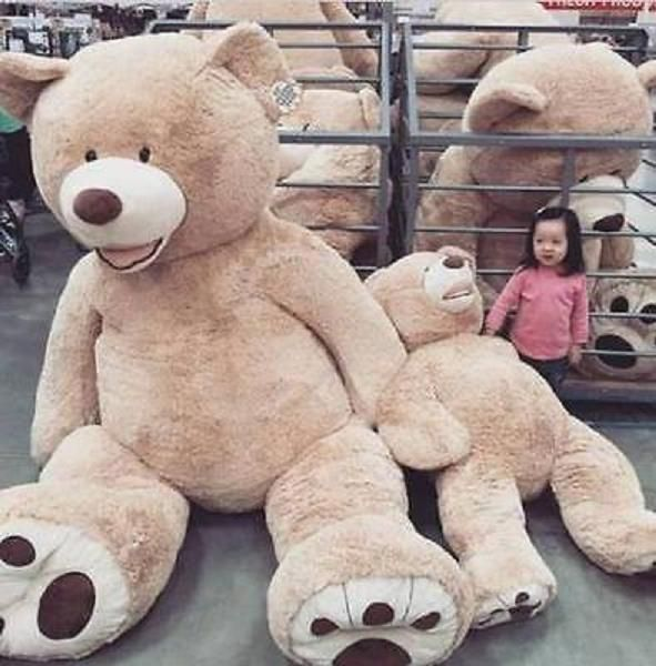 ONLY COVER 79/'/' SUPER HUGE big bear 200cm WITH ZIPPER PLUSH TOY SHELL