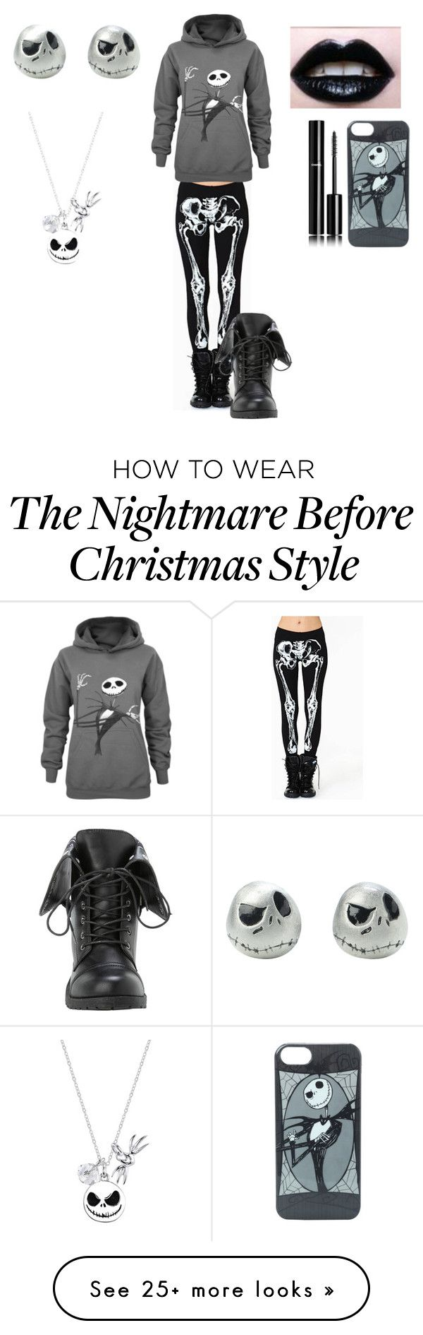 """""""Skull"""" by jalondacameron on Polyvore featuring Disney and Chanel"""