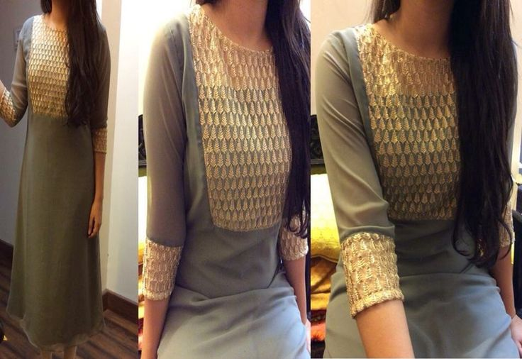 Long Kurti  Love the blouse design! Pinterest : @nivetas  https://www.facebook/punjabisboutique