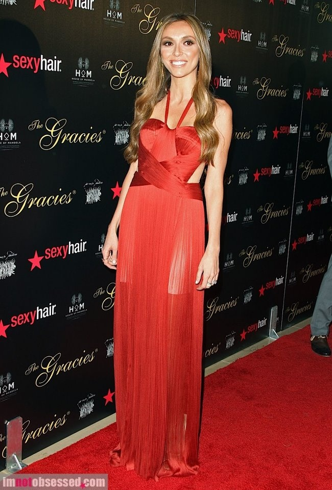 """TV Personality/Host Giuliana Rancic wearing the Maria Lucia Hohan """"Lara"""" gown to The 37th Annual Gracie Awards Gala"""