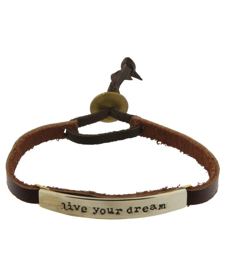 inspirational jewelry live your dreams adjustable