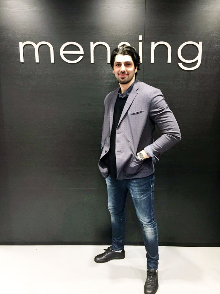 Outfit der Woche! Casual Sakko, Strickpullover & Hemd mit Stehkragen: Drykorn – Jeans: Diesel – Sneakers: Marc O'Polo #fashion #ootw