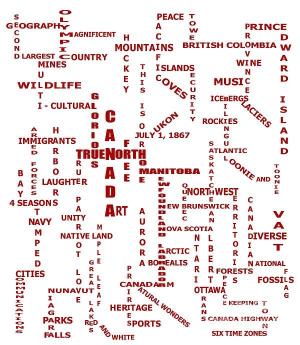 Canada Crosswords by Barbara Griffin - Canada Crosswords Digital Art - Canada Crosswords Fine Art Prints and Posters for Sale