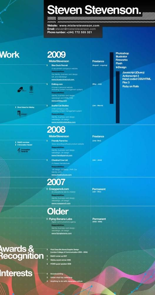 17 best images about infographic resumes on pinterest