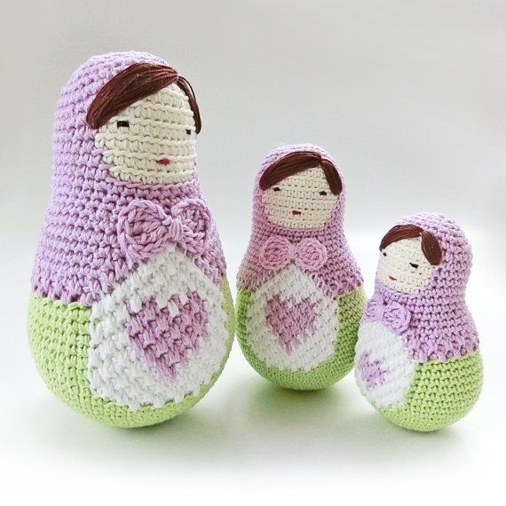 Amigurumi doll pattern, crochet nesting dolls pattern. Ela the Matryoshka doll, crochet doll pattern. Matryoshka doll, Babushka doll.