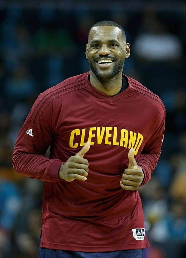 CHARLOTTE, NC - NOVEMBER 27: LeBron James #23 of the Cleveland Cavaliers warms up before their game against the Charlotte Hornets at Time Warner Cable Arena on November 27, 2015 in Charlotte, North Carolina. NBA - NOTE TO USER: User expressly acknowledges and agrees that, by downloading and or using this photograph, User is consenting to the terms and conditions of the Getty Images License Agreement. (Photo by Streeter Lecka/Getty Images)