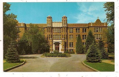 1960's Academy of Notre Dame 6300 W. Main Street Belleville IL Postcard