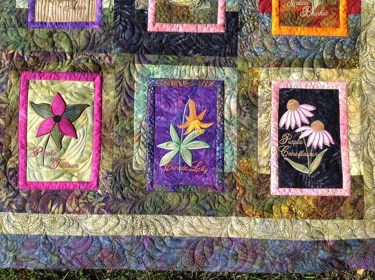 Flower Applique Cushions