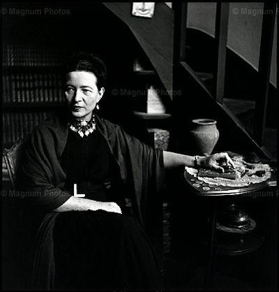 Elliot Erwitt - Simone de Beauvoir, Paris, 1949
