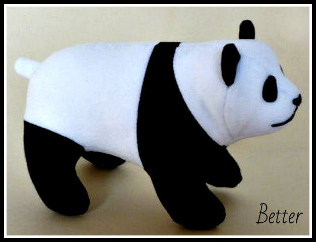 Free Panda Patterns - one standing and one laying