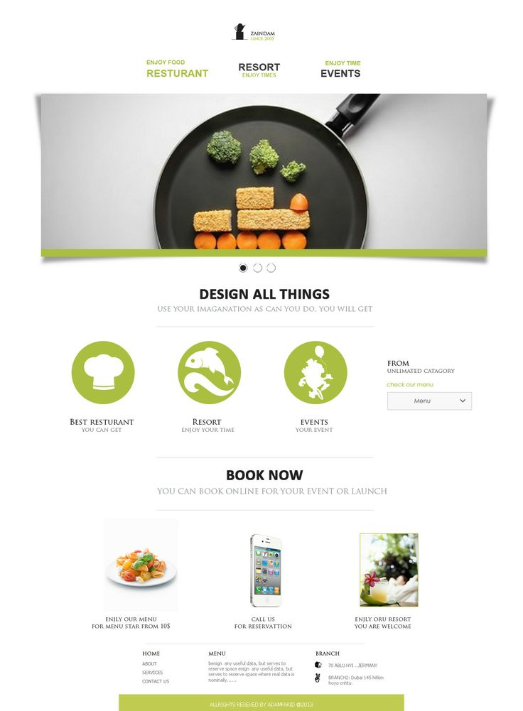 Restaurant Web Design   by adamfarid - 6972