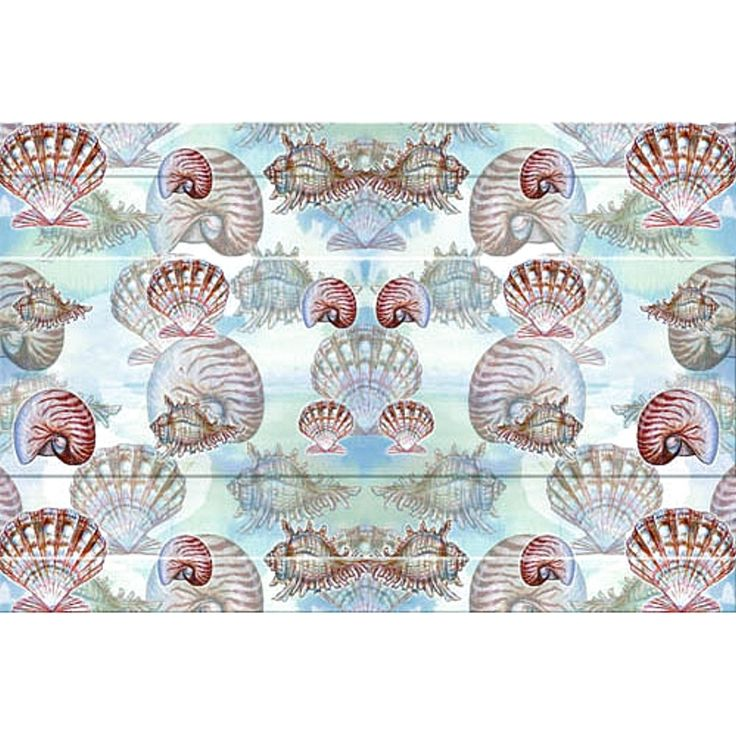 Betsy Drake Coastal Shells color Door Mat