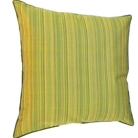 Cushion cover yellow green orange striped 60cm 50cm 30cm metallic daybed euro