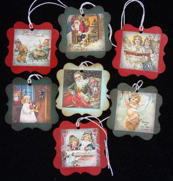 Handmade Christmas Tags - Neat Way to Use Old Christmas Cards