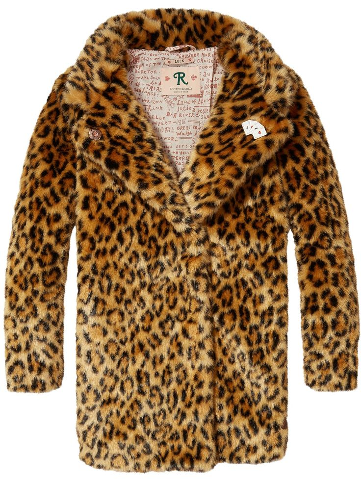 Jas van nepbont met luipaardprint