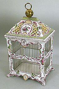 Antique bird cage at Su Casa