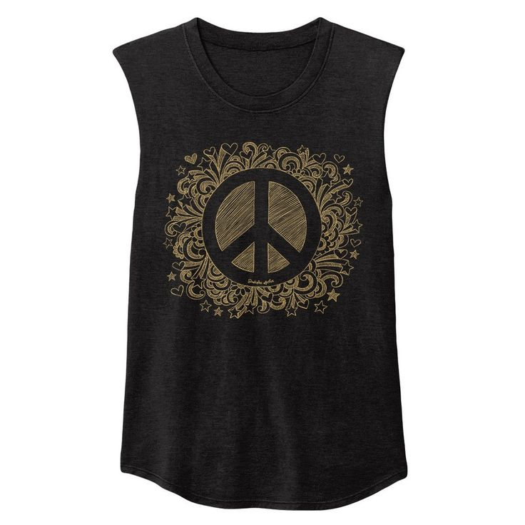 Peaceful Warrior Muscle Tank Gold