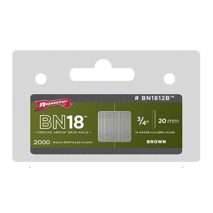 "Arrow Fastener BN1812BCS 3/4"" Brad Nails 2,000-ct"