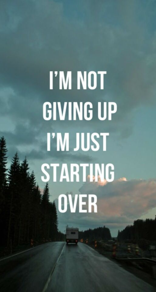 I'm not giving up