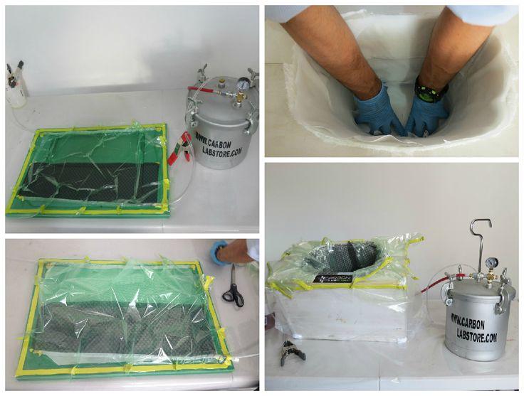 Resumen de recipiente y laminados con fibras reforzadas manufacturado por el proceso de infusión de resina. Para mayor información, visita: www.carbonlabstore.com