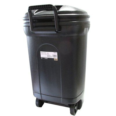 Mighty Tuff 128 7 L Rectangular Wheeled Trash Can Waste