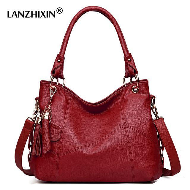 Today Offer $26.62, Buy Lanzhixin Women Leather Handbags Women Messenger Bags Designer Crossbody Bag Women Tote Shoulder Bag Top-handle Bags Vintage 518
