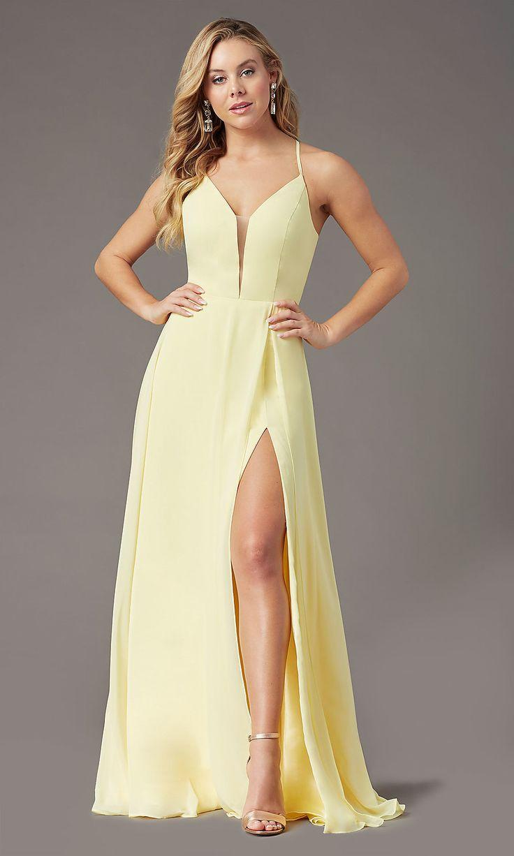 Embellished-Bodice Faux-Wrap Long Prom Dress -PromGirl