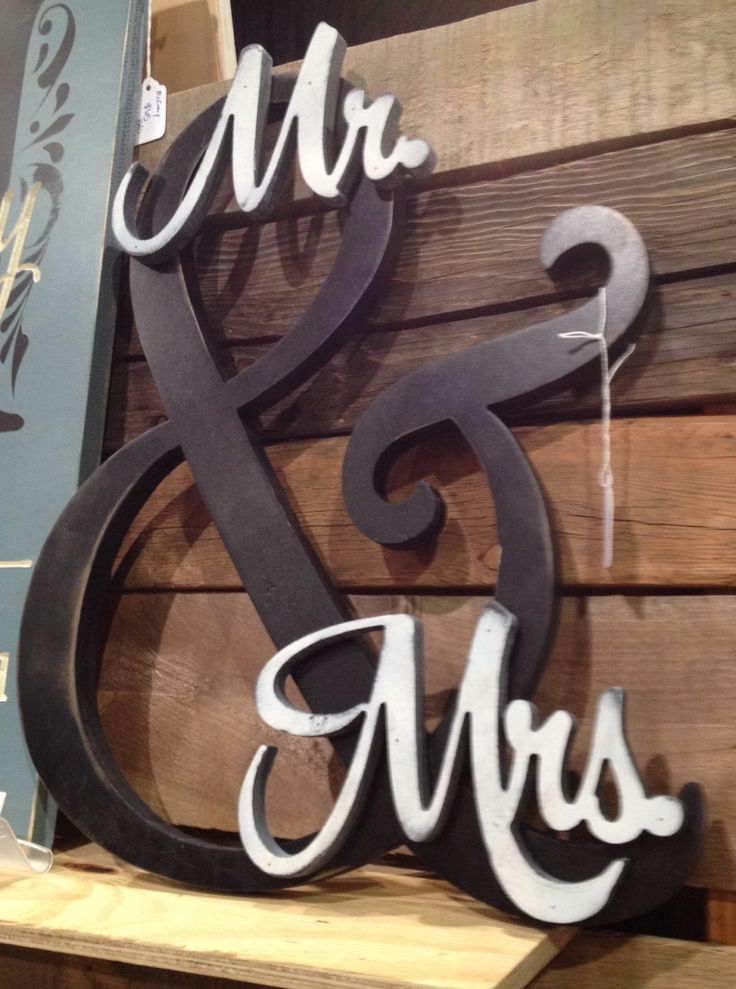 Mr. and Mrs. Sign Hobby Lobby | Mr & Mrs | Future Mrs.... | Pinterest