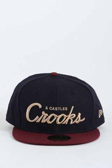 Imagine if you had your Team C Woven Fitted Cap from Crooks and Castles stolen off your noggin' by a naughty rascalite - how ironic! Fair play though, with such a dope mix of navy and maroon, including 3D golden embroidery - who'd blame them?
