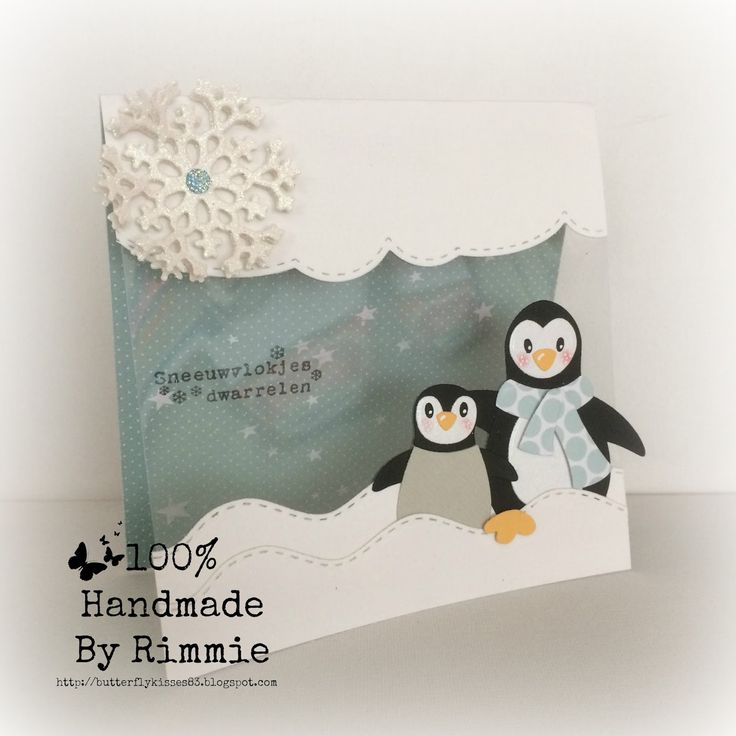 Hallo allemaal! Vandaag een CAS kaartje met de schattige pinguïns. Op het MD challenge blog werd gevraagd om een creatie in wit ...