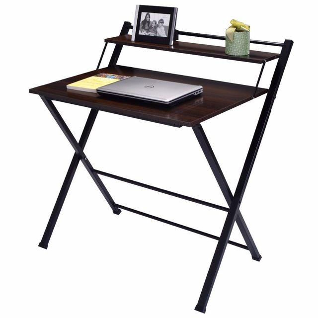 Getting A Folding Computer Table Giantex 2 Tier Folding Computer Desk Home Office Furniture Modern Wood Workstation Table Foldable Study Mgdgbgk Furnish Ideas Office Furniture Modern Home Office Furniture Wood Computer Desk