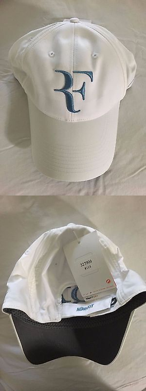Hats and Headwear 159160: ** Rare Roger Federer Nike White And Blue Cap Hat Rf ** -> BUY IT NOW ONLY: $500 on eBay!